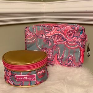 NWT Simply Southern Cosmetic Bag & Jewelry Case